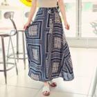 Flare Pattern Long Skirt