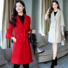 3/4-sleeve Lapel Woolen Coat