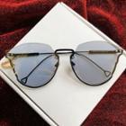 Half-frame Retro Sunglasses With Case