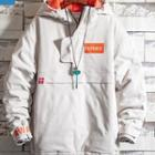 Lettering Hooded Padded Top