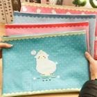 Sheep-printed Stationery Pouch