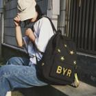 Star Embroidered Nylon Backpack