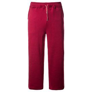 Drawstring Wide-leg Sweatpants