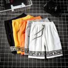 Drawstring Waist Print Shorts
