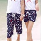 Couple Star Print Shorts