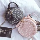 Lace Paneled Crossbody Bag