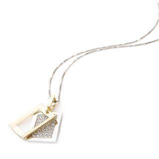 18k White & Yellow Gold Pendant With Necklace