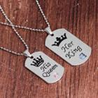 Couple's Matching Lettering Necklace