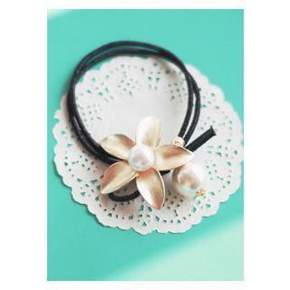 Metallic Floral Hair Tie