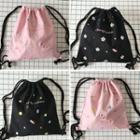 Embroidered Drawstring Canvas Backpack