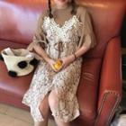 Set: Ruffled Dress + Lace Dress