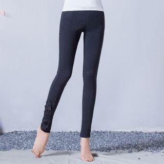 Crochet Trim Skinny Pants