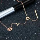 18k Rose Gold Plated Love Letter Bracelet