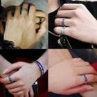 Stainless Steel Numeral Open Ring