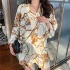 Loose-fit Printed Chiffon Light Shirt