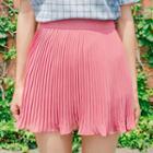 Accordion-pleated Mini Skirt