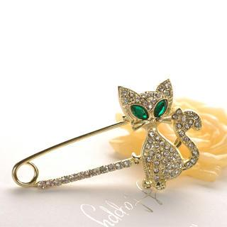 Kitty Brooch  Gold - One Size