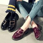 Low Heel Buckled Loafers