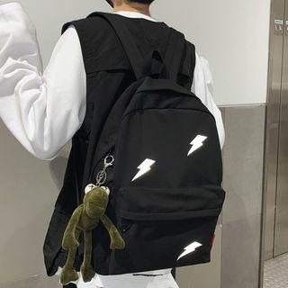 Lightening Print Canvas Backpack