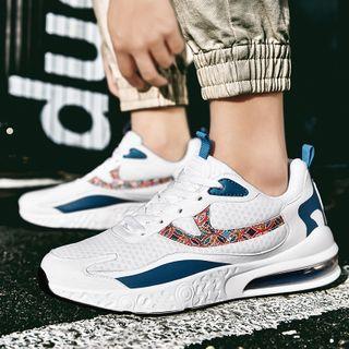 Paneled Print Platform Sneakers