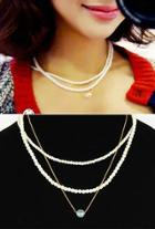 Layered Faux-pearl Necklace