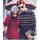 Couple Embroidered Knit Top