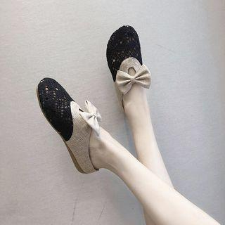 Bow Accent Perforated Mules