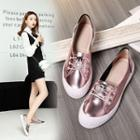 Genuine Leather Lace Up Loafers