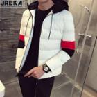 Colorblock Hooded Padded Jacket