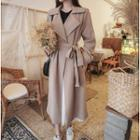 Wrap Coat With Sash