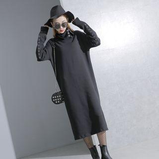 Metals Long-sleeved Midi Dress