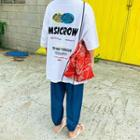 Printed Letter-tag Oversized T-shirt