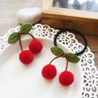 Fabric Cherry Hair Tie / Hair Clip