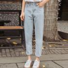 High-waist Washed Harem Jeans