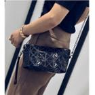 Patterned Chain Strap Shoulder Bag