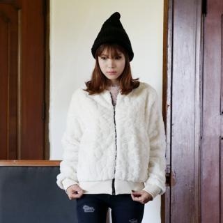 Zip-up Faux-fur Jacket