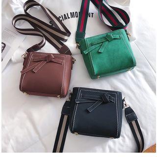 Velvet Knot Crossbody Bag