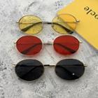 Retro Oval Metal Frame Sunglasses