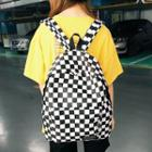 Checker Backpack Black - One Size