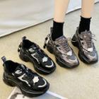 Paneled Platform Chunky Sneakers