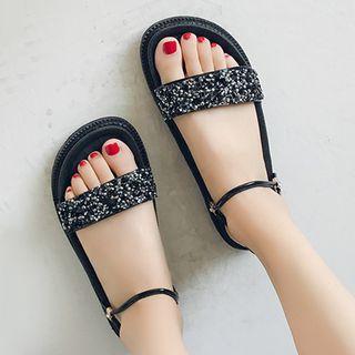 Glitter Accent Sandals