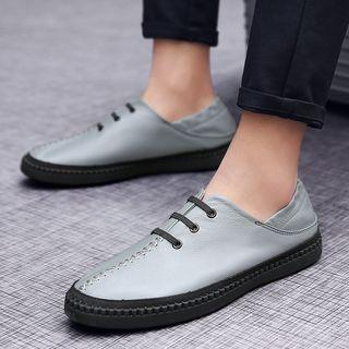 Genuine Leather Stitched Oxfords