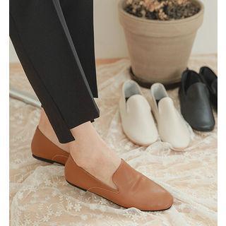 Round-toe Pleather Flats