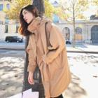 Hooded Stitched Long Jacket
