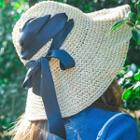 Lace-up Straw Hat