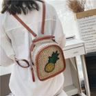 Pineapple Straw Woven Backpack