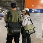 Buckled Lightweight Messenger Bag
