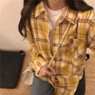 Plaid Shirt Plaid - Yellow & Brown - One Size