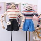 Colorblock Striped Knit Top