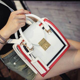 Contrast Trim Shoulder Bag